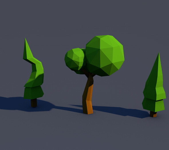 3DOcean Low Poly Tree [Mini Pack] 9072310