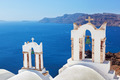Oia town on Santorini island, Greece. Caldera on Aegean sea. - PhotoDune Item for Sale