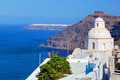Traditional architecture in Fira on Santorini island, Greece - PhotoDune Item for Sale