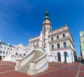 Zamosc, Poland. Historic buildings with the town hall. - PhotoDune Item for Sale