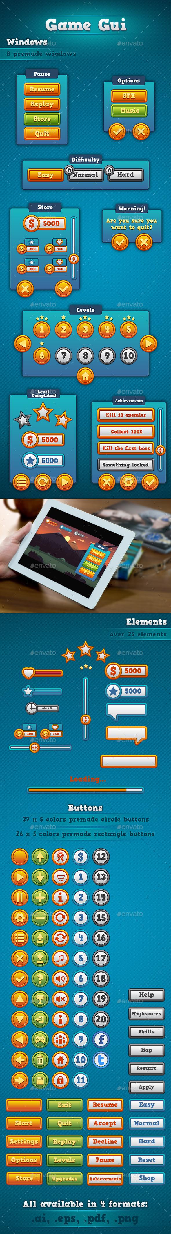 GraphicRiver Game GUI 9080744