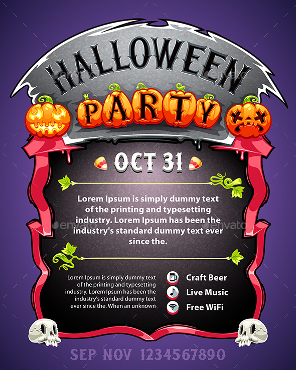 GraphicRiver Halloween Party Poster 9080749