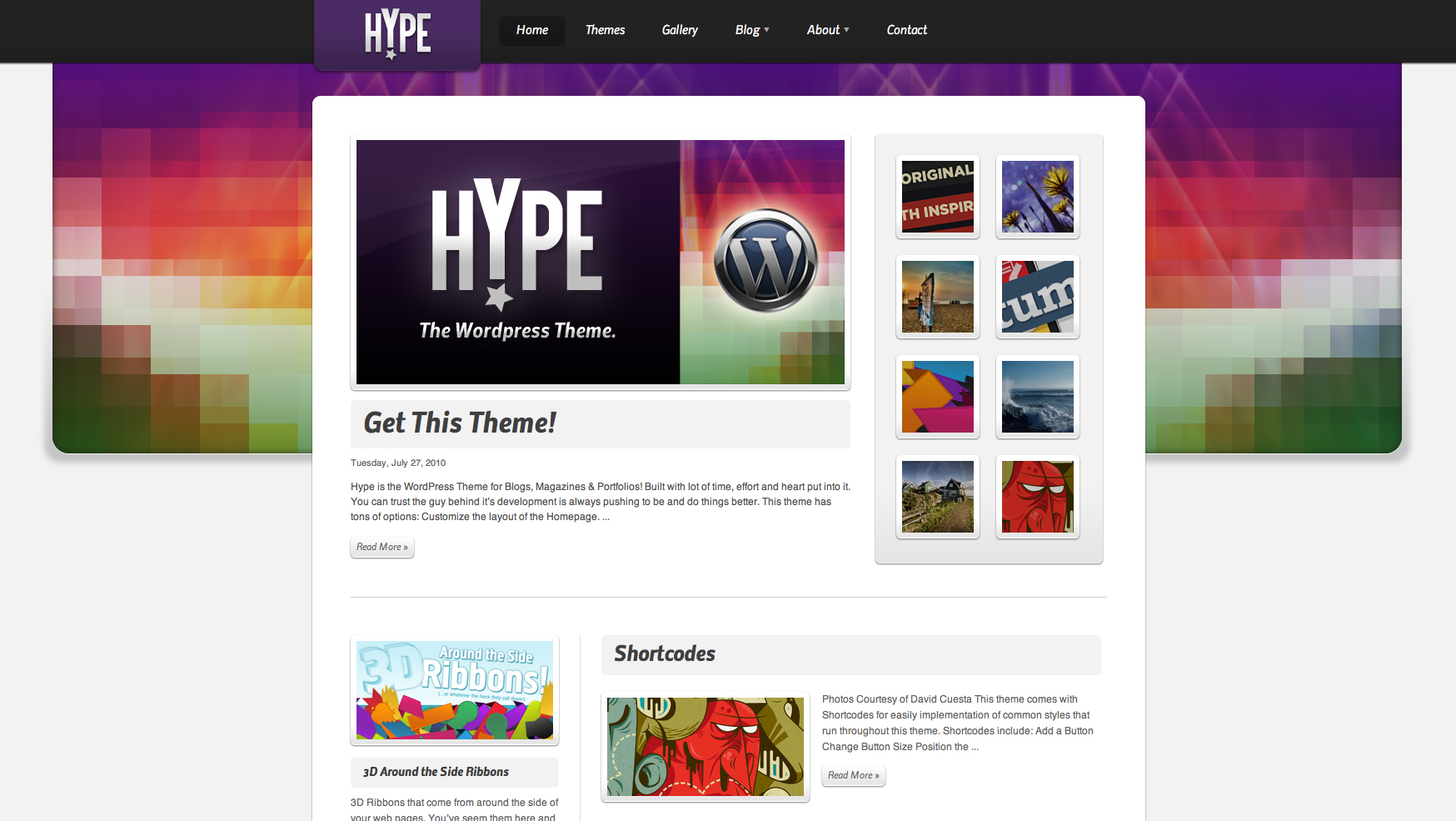 Hype Wordpress Theme Blogs, Magazines & Portfolios