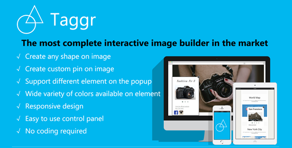 CodeCanyon Taggr Interactive Image Builder for Wordpress 9041693