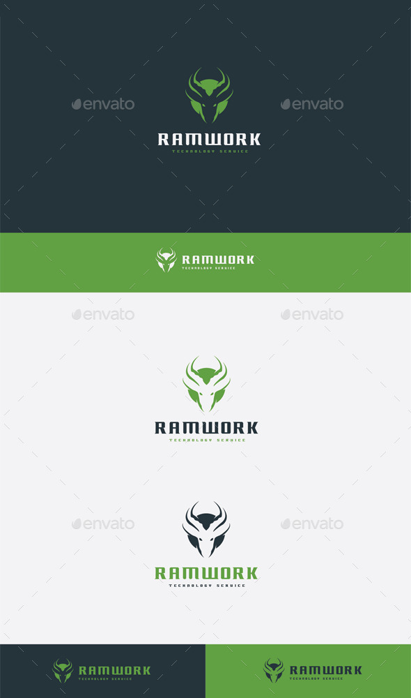 GraphicRiver Ram Work Logo 9080937
