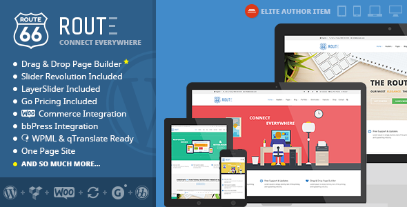 Route – Responsive Multi-Purpose Theme (WordPress 4.0.1 Ready) Route is an minimal, ultra premium highly responsive, retina-ready wordpress theme fully b