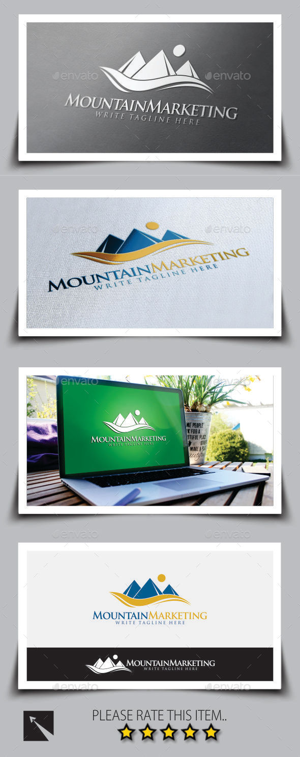 GraphicRiver Mountain Marketing Logo Template 9081066