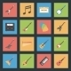 Musical Instruments Flat Icons Set - GraphicRiver Item for Sale