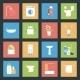 Bathroom Flat Icons Set - GraphicRiver Item for Sale