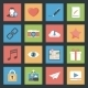 Socia Media Web Flat Icons Set - GraphicRiver Item for Sale