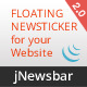 JNewsbar - jQuery Floating News Ticker Bar