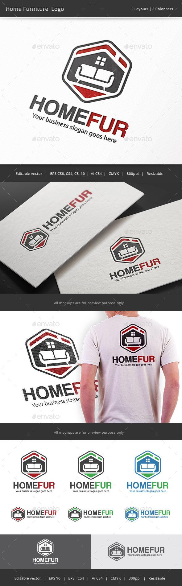 GraphicRiver Home Furniture Logo 9081214