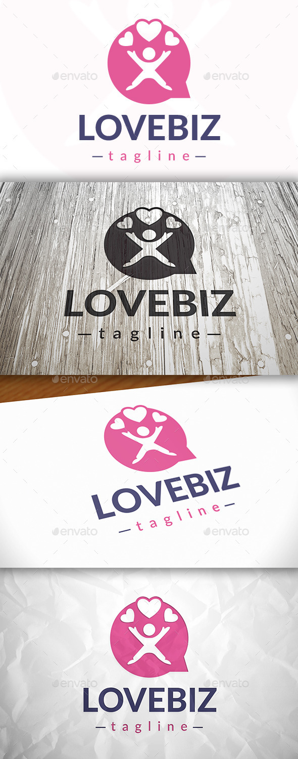 GraphicRiver Love Chat Logo 9081297