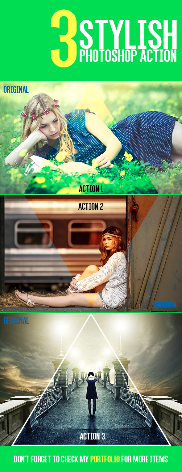GraphicRiver 3 Stylish Actions 9081957