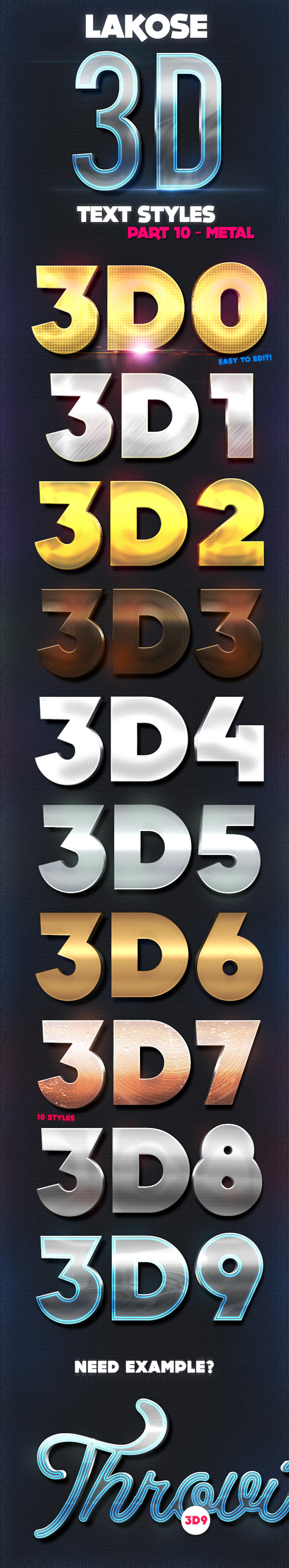 GraphicRiver Lakose 3D Text Styles Part 10 9082303