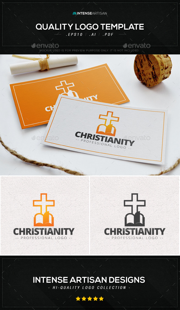 GraphicRiver Christianity Logo Template 9082348