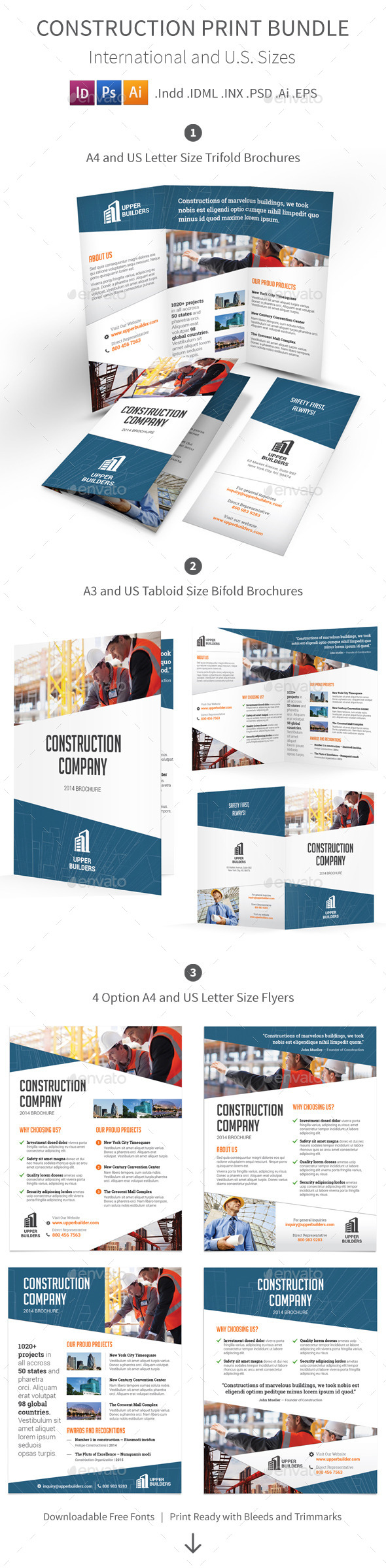 GraphicRiver Construction Company Print Bundle 9082510