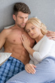 Romantic Lovers on Bed Fashion Shoot - PhotoDune Item for Sale