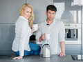 Couple enjoying a pot of freshly brewed coffee - PhotoDune Item for Sale