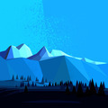 Low Poly Vector Mountain - PhotoDune Item for Sale