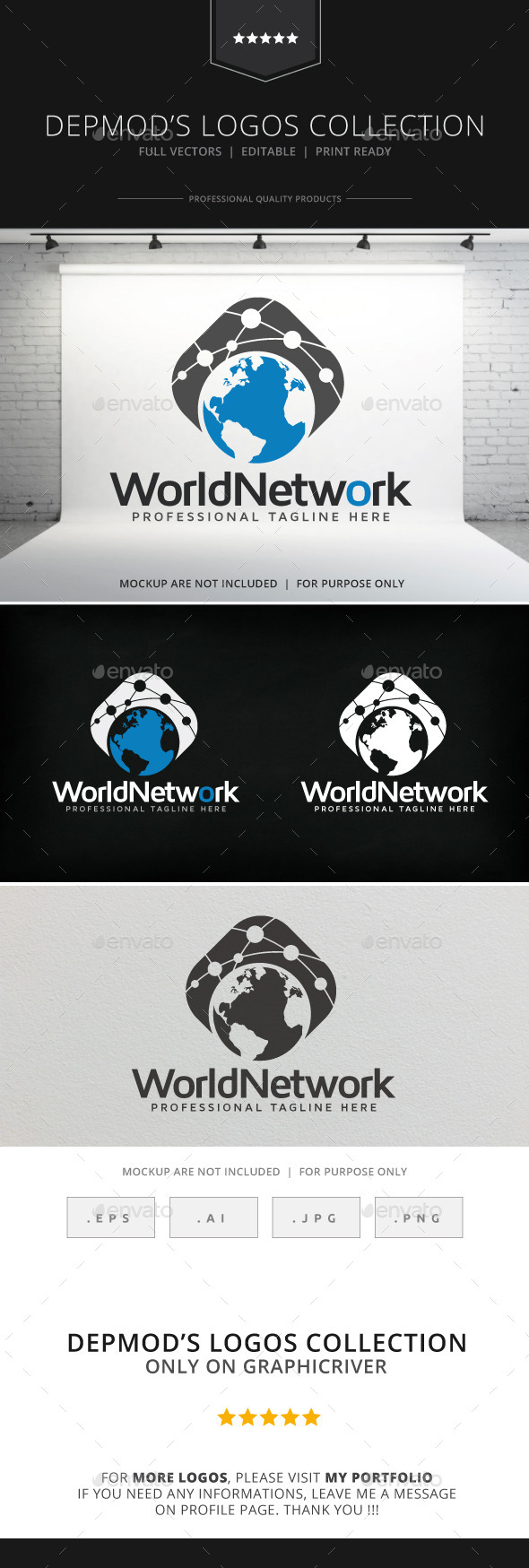 GraphicRiver World Network Logo 9082631