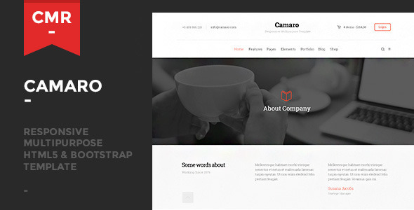 ThemeForest Camaro Responsive Multipurpose Template 9082637