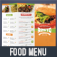 Colorful Food Menu 3 - table tent - GraphicRiver Item for Sale