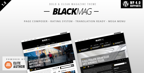ThemeForest BLACKMAG Bold & Clean Magazine Theme 9082673