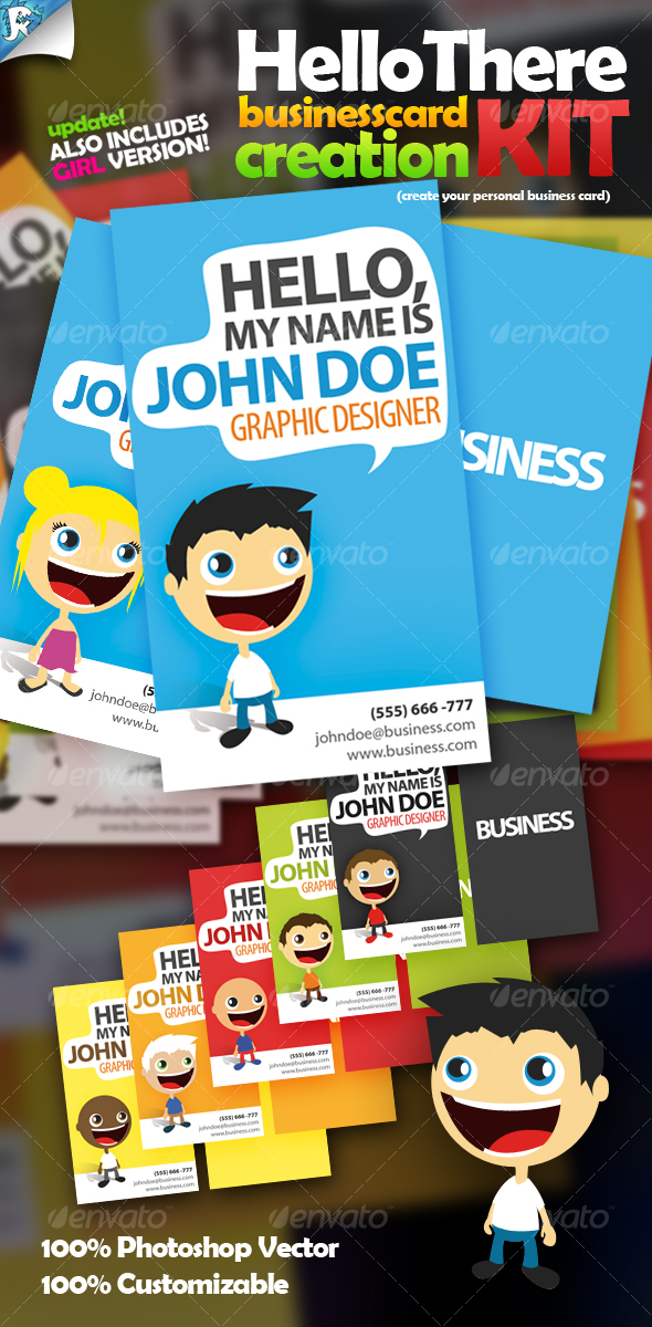 GraphicRiver Hello There Business Card Creation Kit 116912