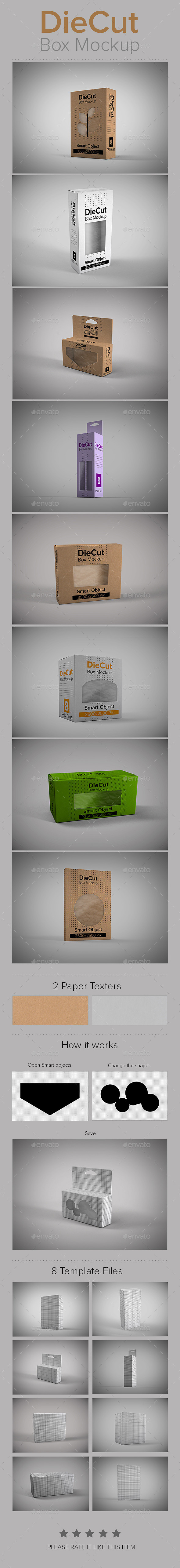 GraphicRiver DieCut Box Mockup 9083428