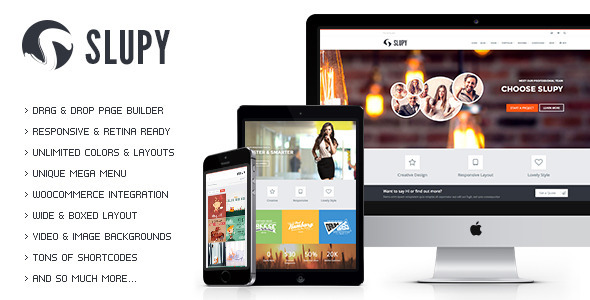ThemeForest Slupy Responsive Multi-Purpose WordPress Theme 9083500