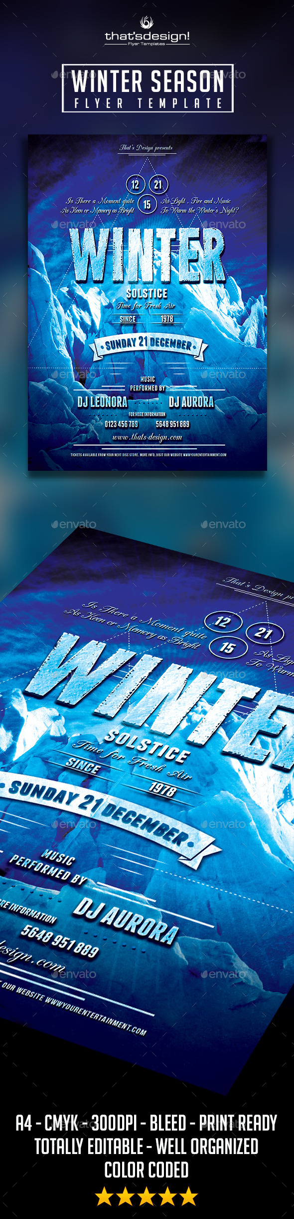 GraphicRiver Winter Season Flyer Template 9083598