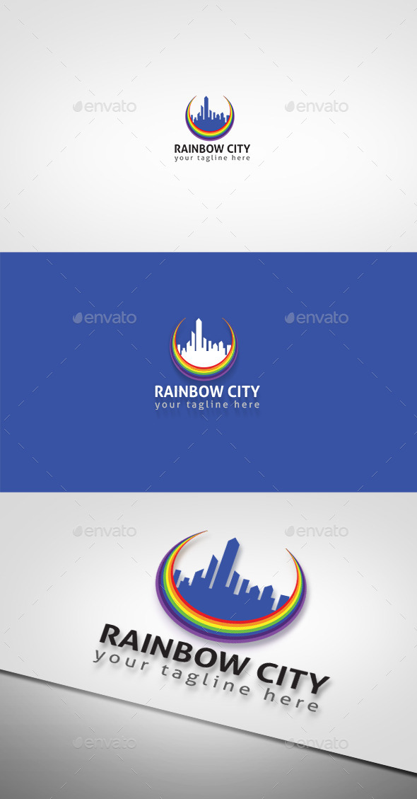 GraphicRiver Rainbow City 9083609