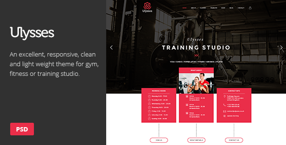 ThemeForest Ulysses Gym Fitness PSD Theme 9083989