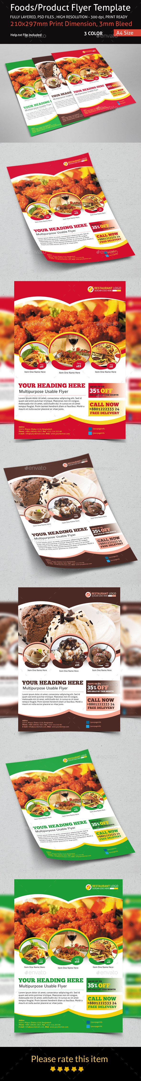 GraphicRiver Foods Product Flyer Template 9084068