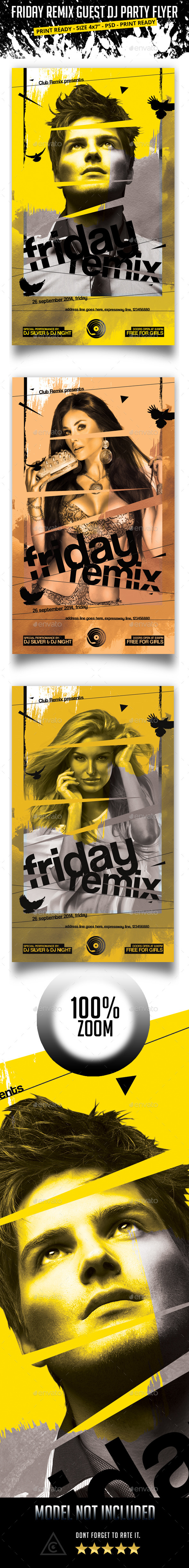GraphicRiver Friday Remix Guest Dj Party Flyer 9084271