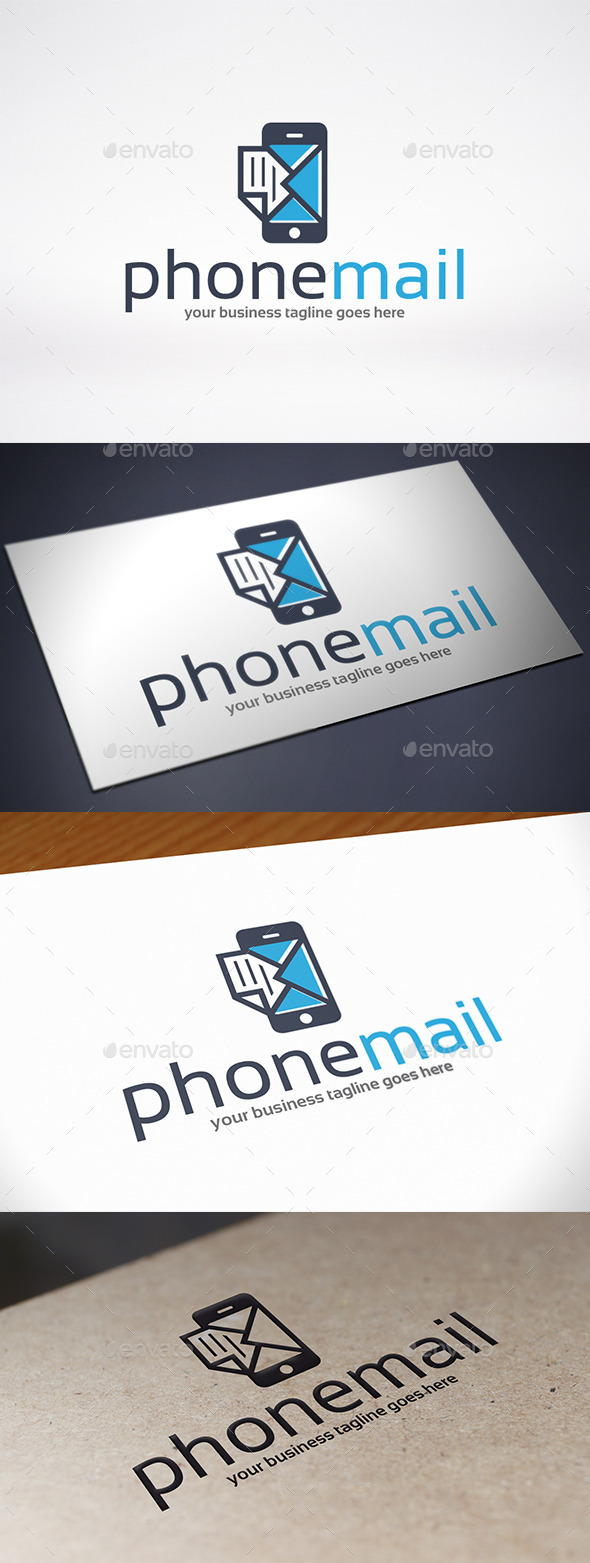 GraphicRiver Phone Mail Logo Template 9084294