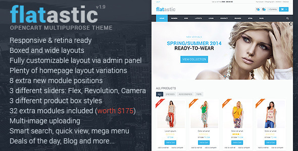 Flatastic - Premium Multipurpose OpenCart Theme - Shopping OpenCart