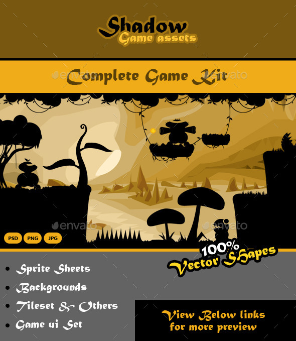 GraphicRiver Shadow Game Kit Bundle 9084402