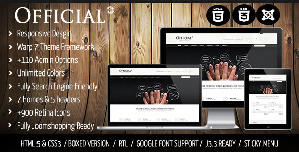 official joomla template