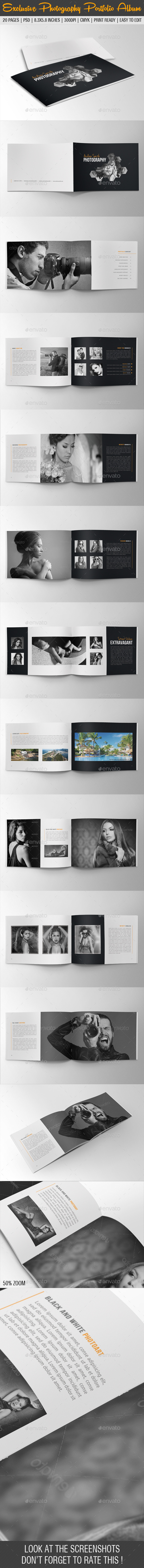 GraphicRiver Exclusive Photography Portfolio Album 06 9084738