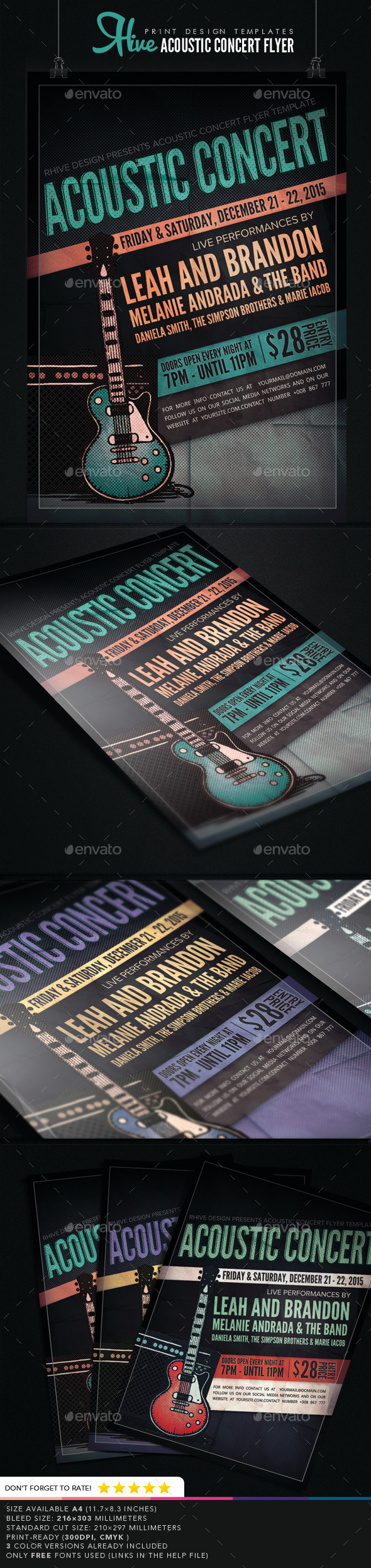 GraphicRiver Acoustic Concert Flyer 9084995