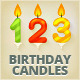 Set of Colored Glossy Birthday Cake Candles - GraphicRiver Item for Sale