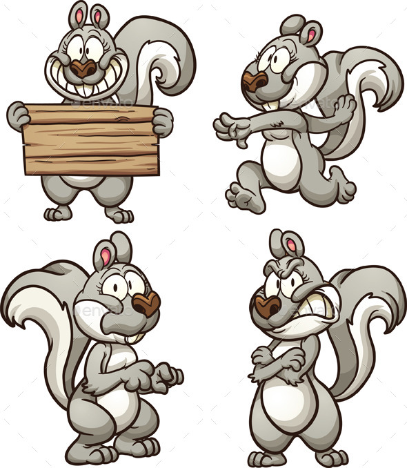 GraphicRiver Cartoon Squirrel 9085369
