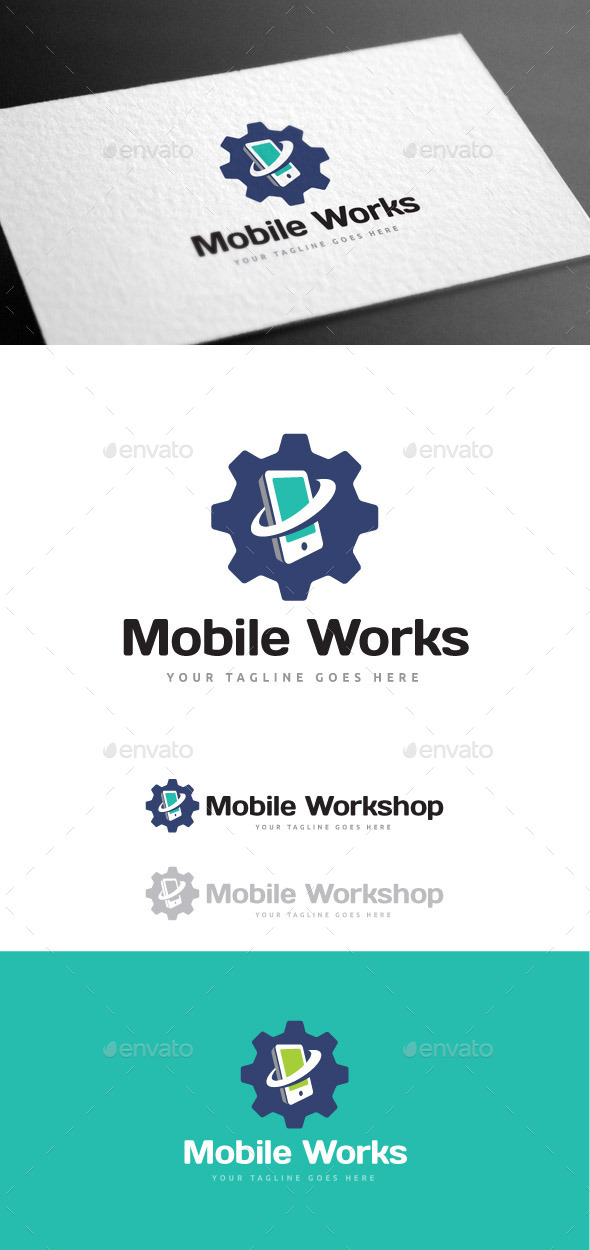 GraphicRiver Mobile Workshop Logo Template 9085406