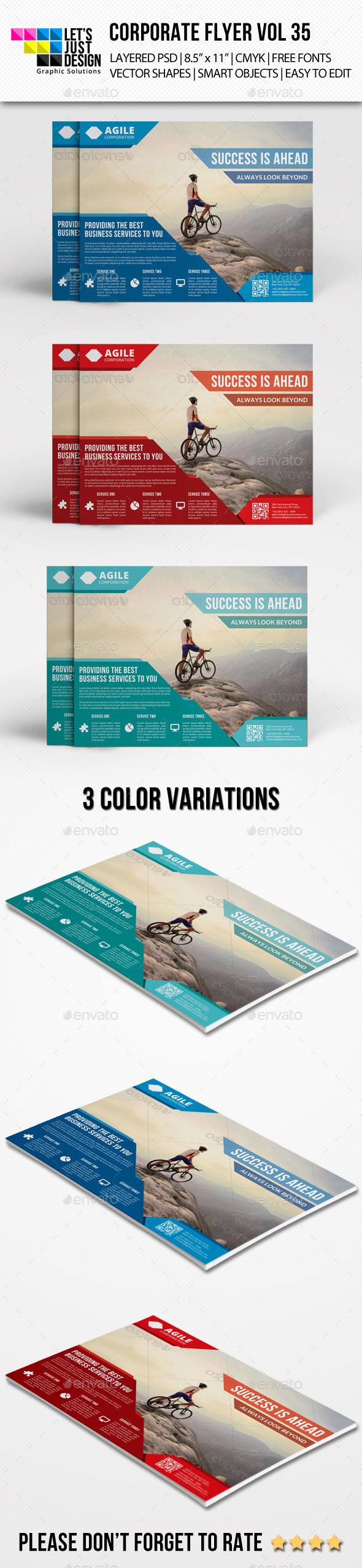 GraphicRiver Corporate Flyer Template Vol 35 9085426