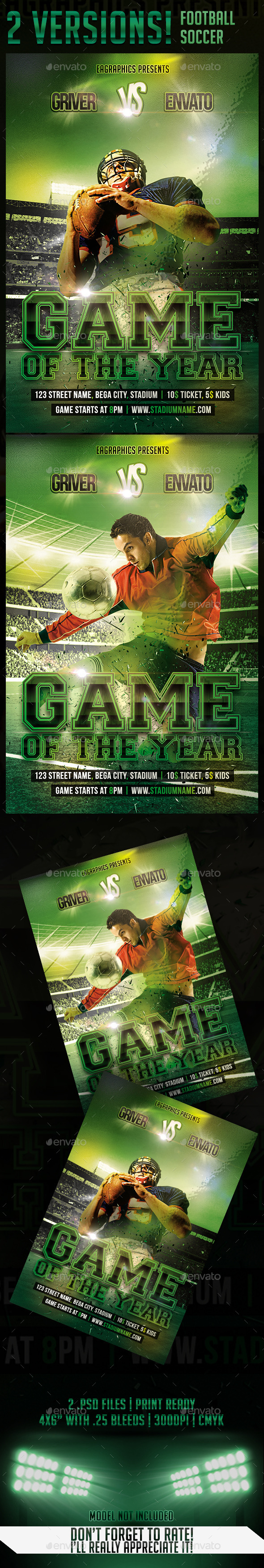 GraphicRiver Game Of The Year FootBall and Soccer 9085561