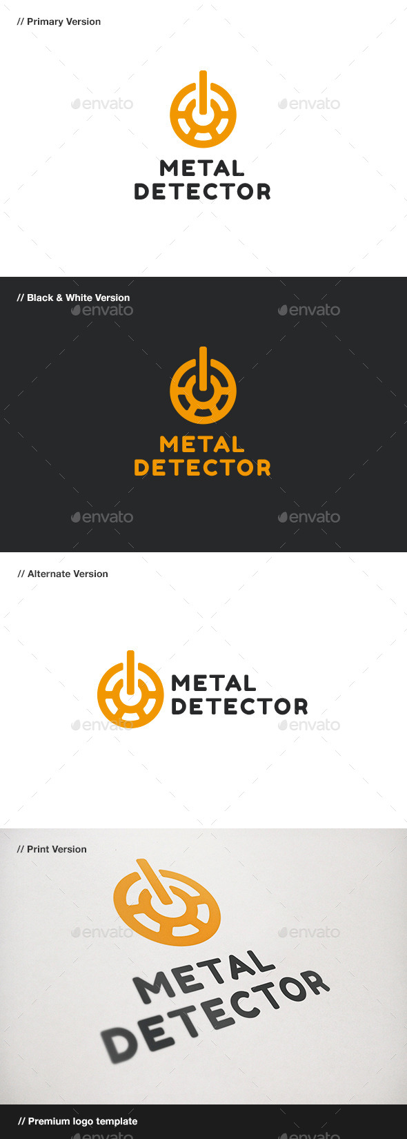 GraphicRiver Metal Detector Logo 9085587