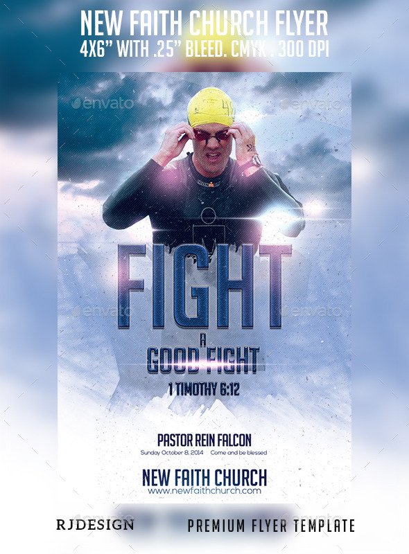 GraphicRiver New Faith Church Flyer 9073105