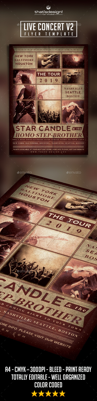 GraphicRiver Live Concert Flyer Template V2 9085818